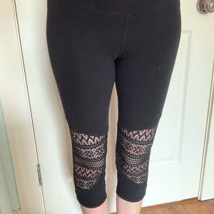 💕 Breathable black mesh leggings